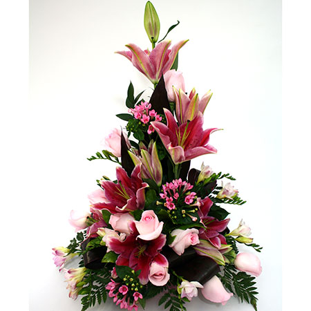 Arrangement with Lilies & Roses Reference: ARR4