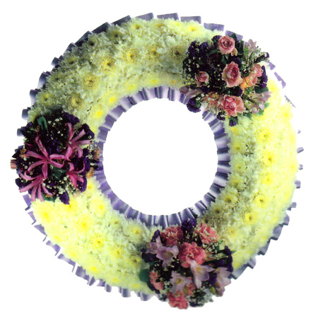 Based Wreath With Grouped Spray Reference:SYM17