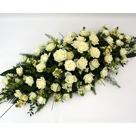 Coffin Spray includes roses with seasonal flowers & foliage Reference: SYM7